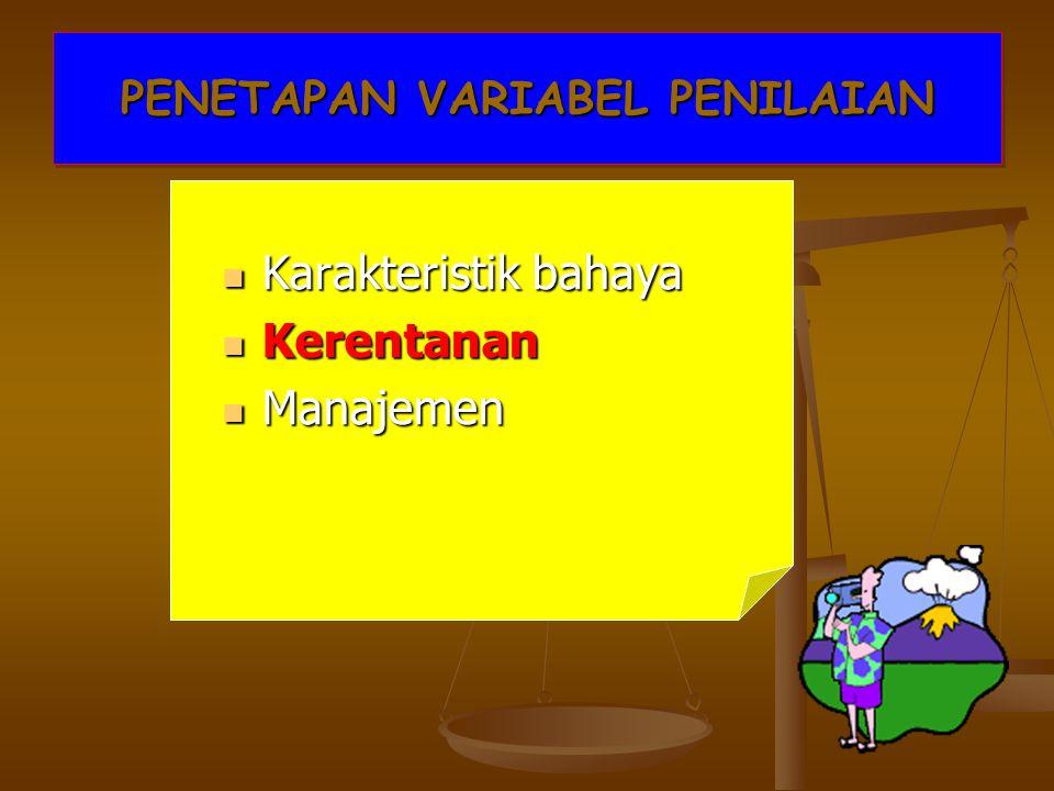 PENETAPAN VARIABEL PENILAIAN
