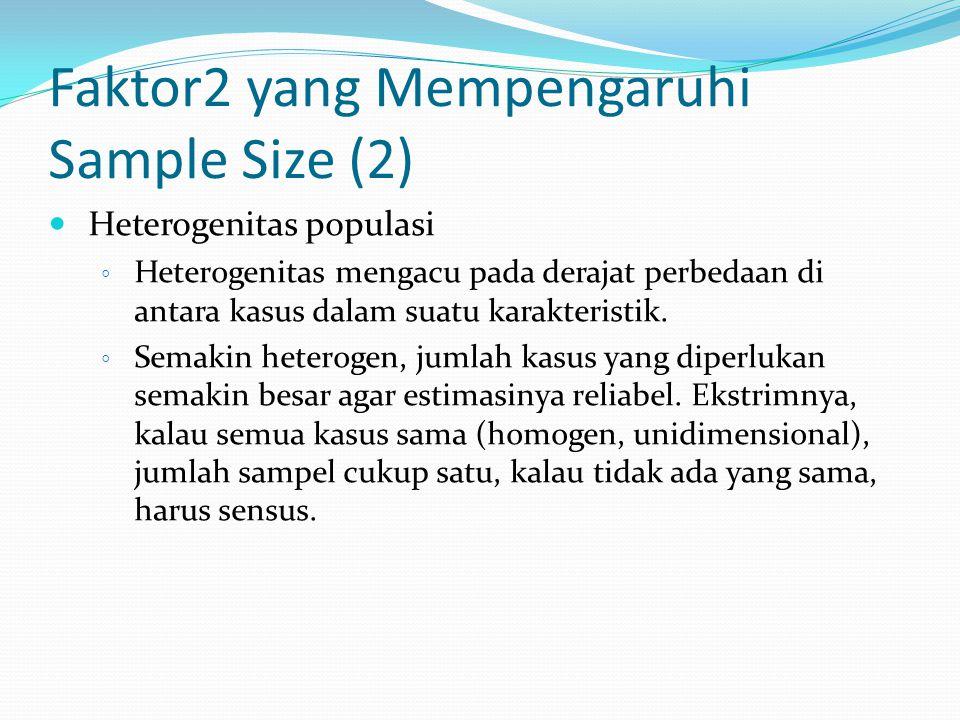Faktor2 yang Mempengaruhi Sample Size (2)