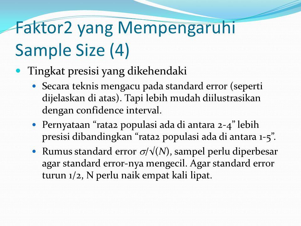 Faktor2 yang Mempengaruhi Sample Size (4)
