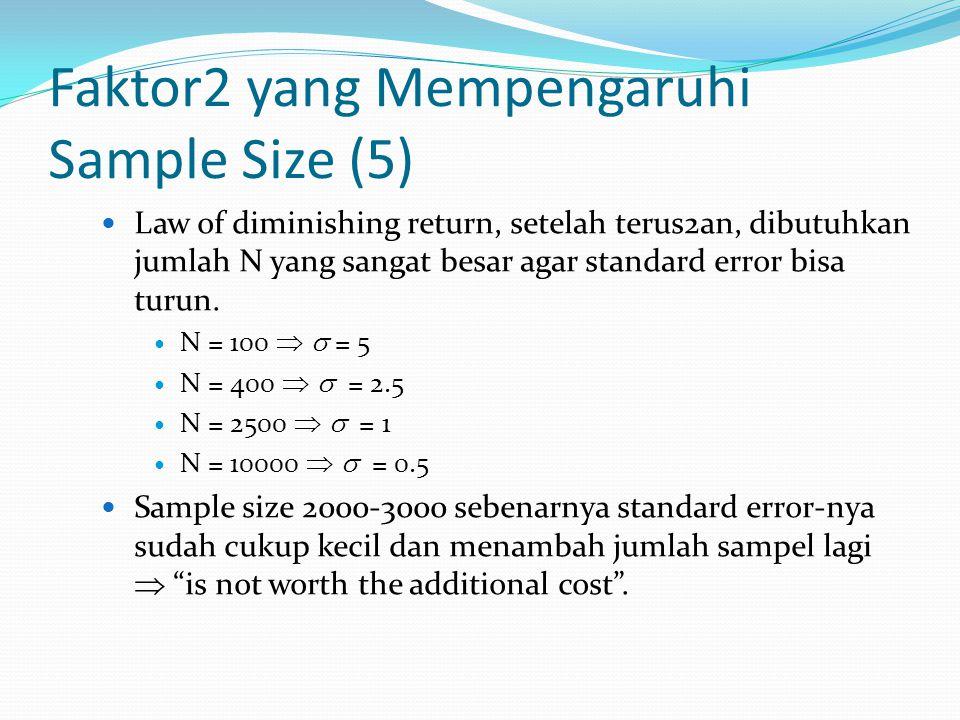 Faktor2 yang Mempengaruhi Sample Size (5)