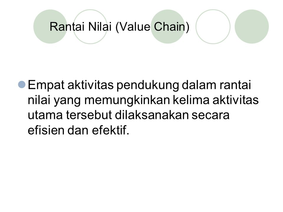 Rantai Nilai (Value Chain)