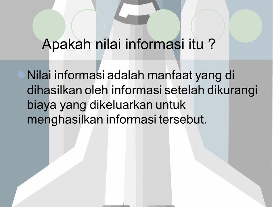 Apakah nilai informasi itu