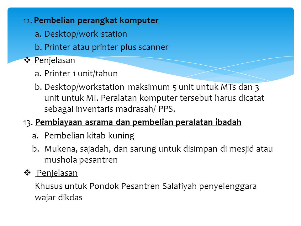 Printer atau printer plus scanner Penjelasan Printer 1 unit/tahun
