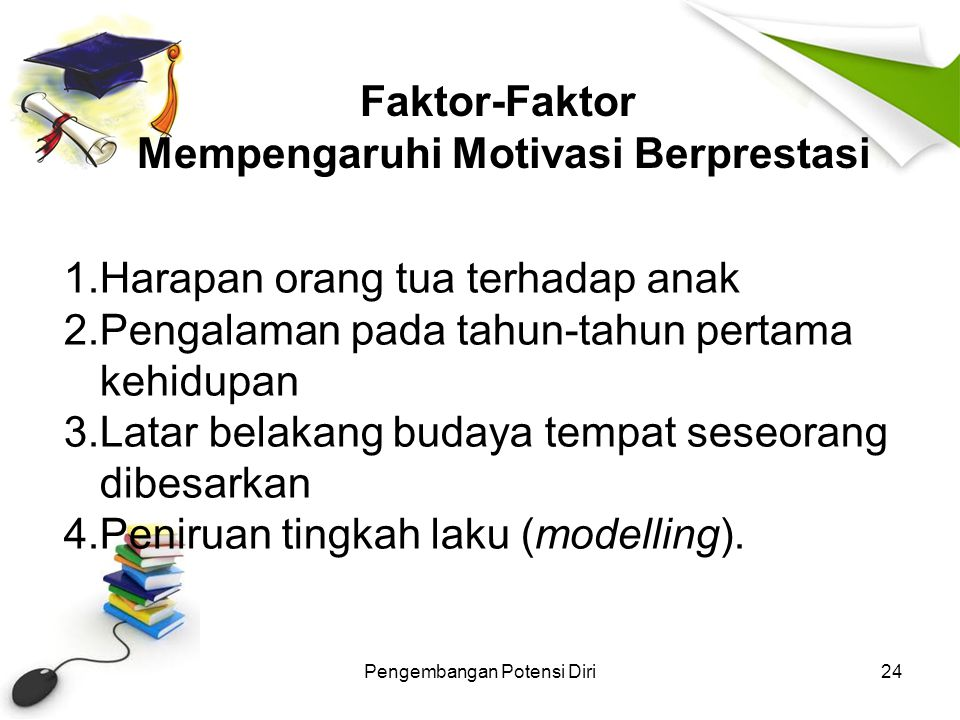 Faktor-Faktor Mempengaruhi Motivasi Berprestasi