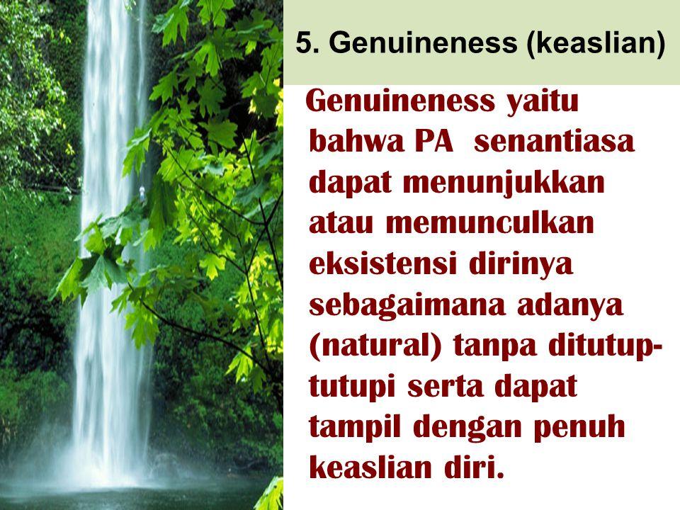 5. Genuineness (keaslian)