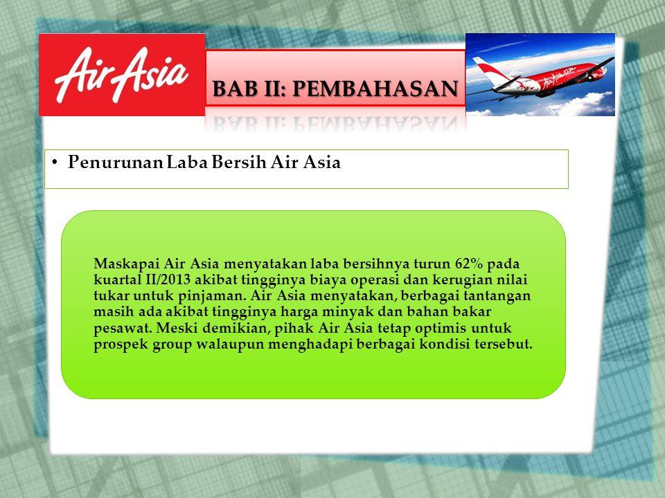 BAB II: PEMBAHASAN Penurunan Laba Bersih Air Asia