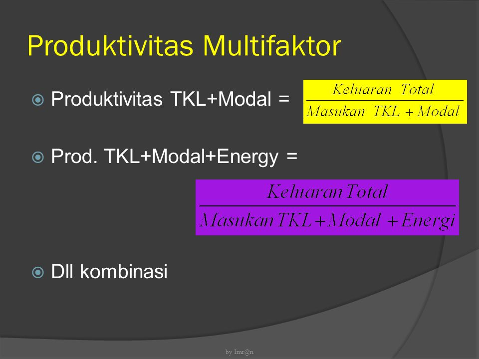 Produktivitas Multifaktor