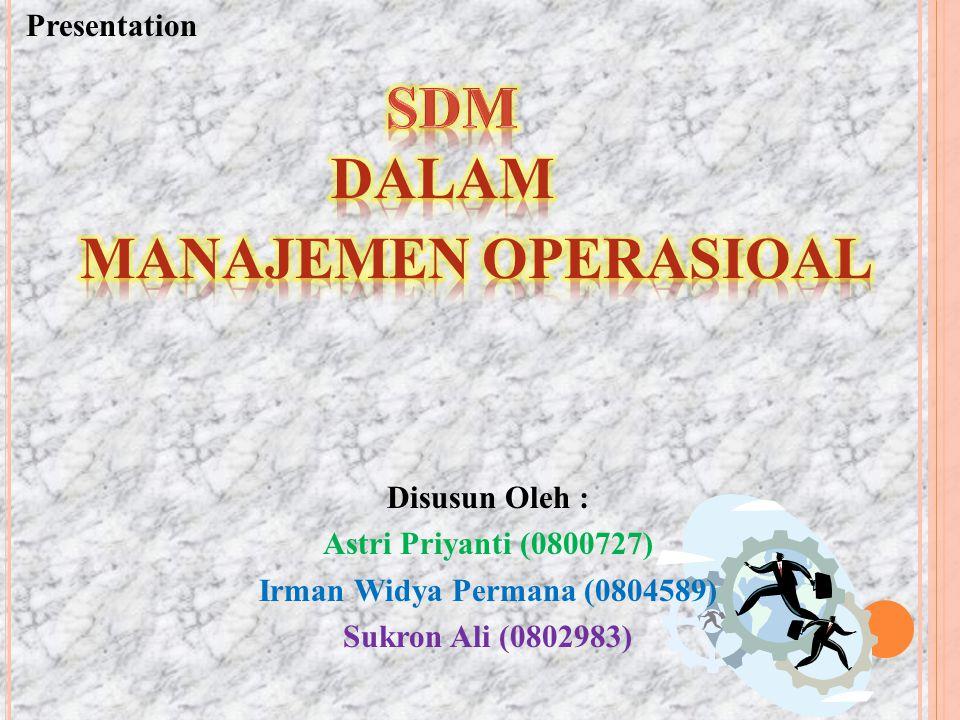 SDM MANAJEMEN OPERASIOAL