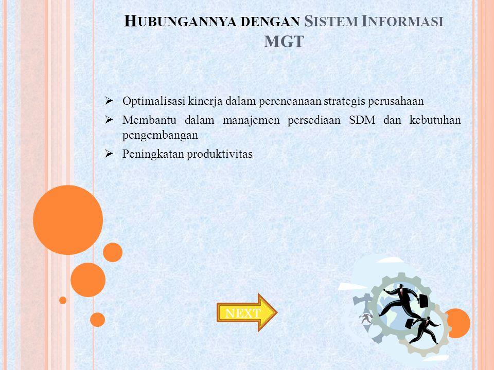 Hubungannya dengan Sistem Informasi MGT