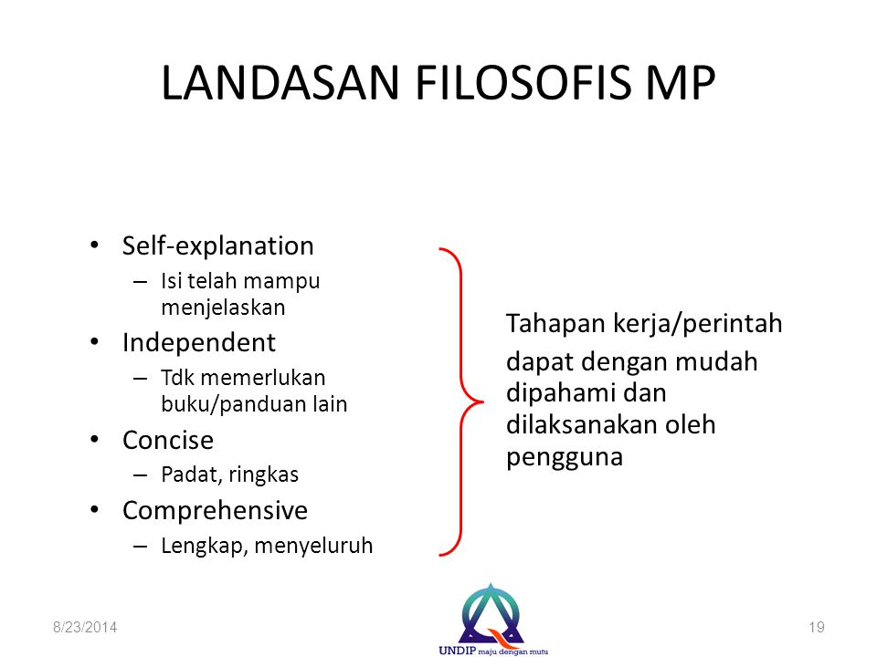 LANDASAN FILOSOFIS MP Self-explanation