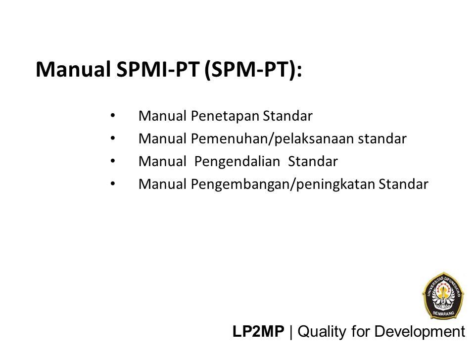 Manual SPMI-PT (SPM-PT): rincian tentang apa saja, siapa, bagaimana dan kapan
