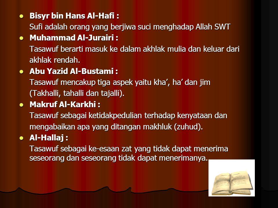 Bisyr bin Hans Al-Hafi :