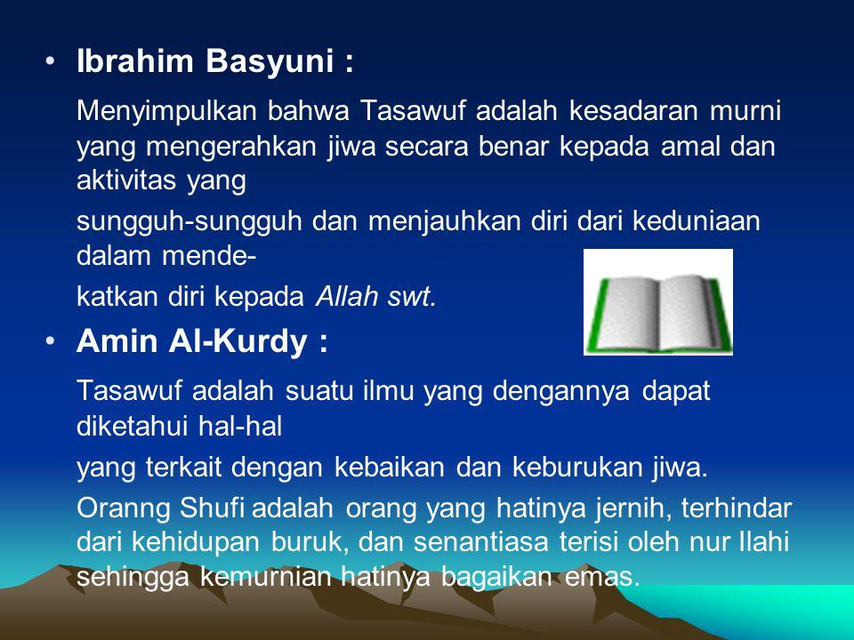 Tasawuf adalah suatu ilmu yang dengannya dapat diketahui hal-hal