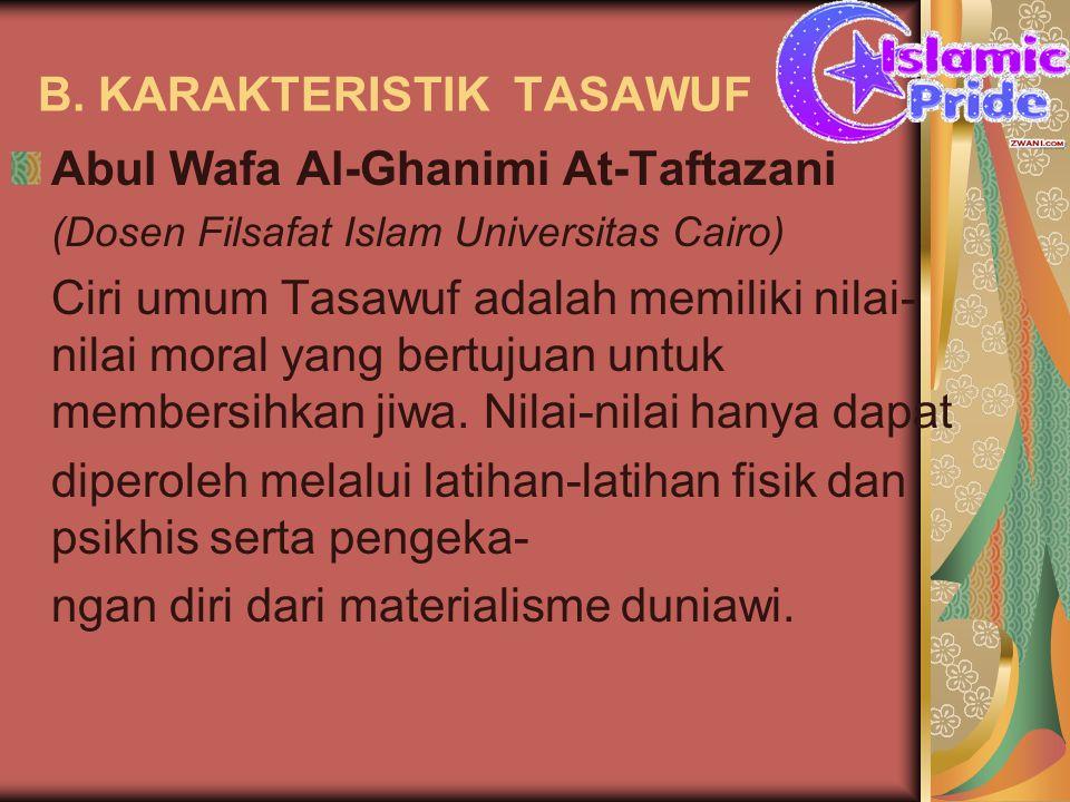B. KARAKTERISTIK TASAWUF