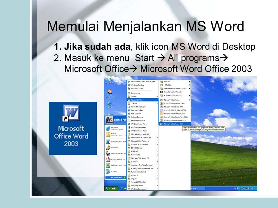 Memulai Menjalankan MS Word