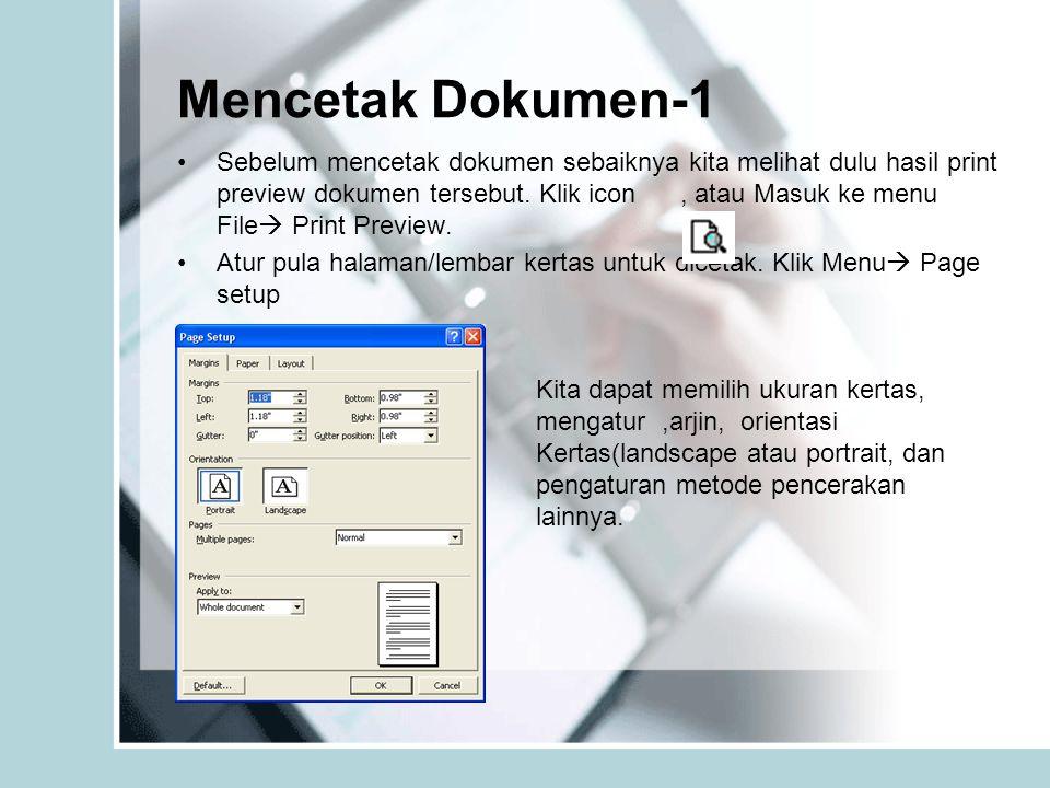Mencetak Dokumen-1