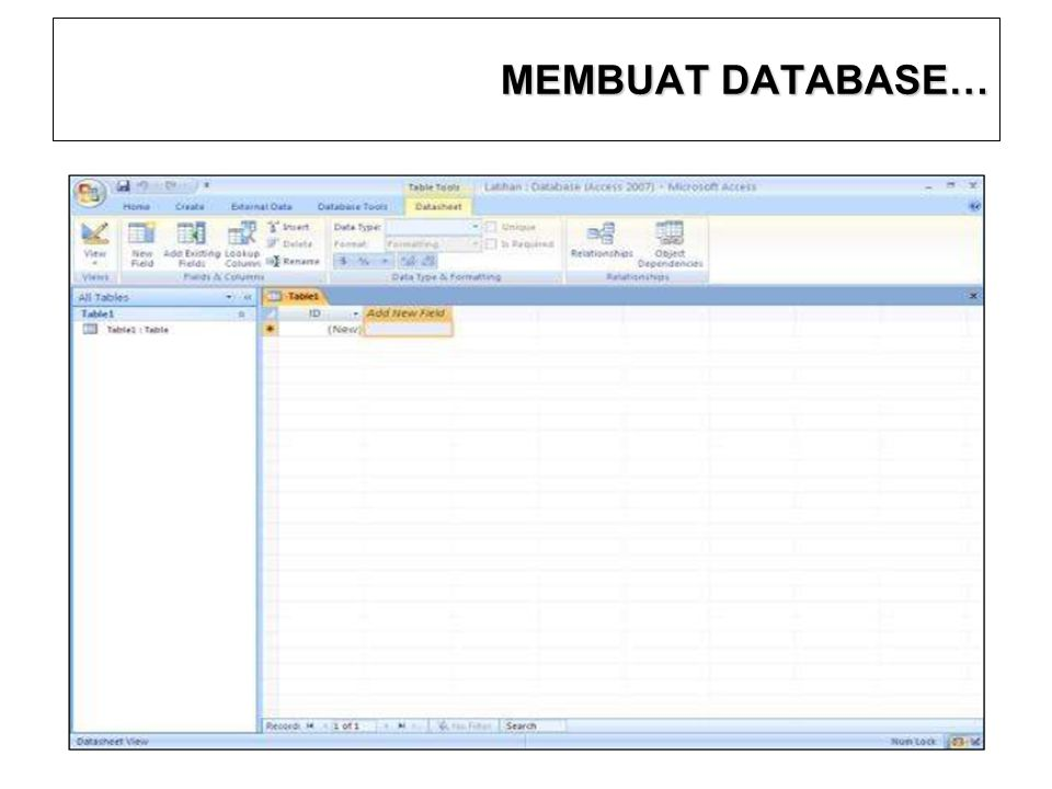 MEMBUAT DATABASE… 12