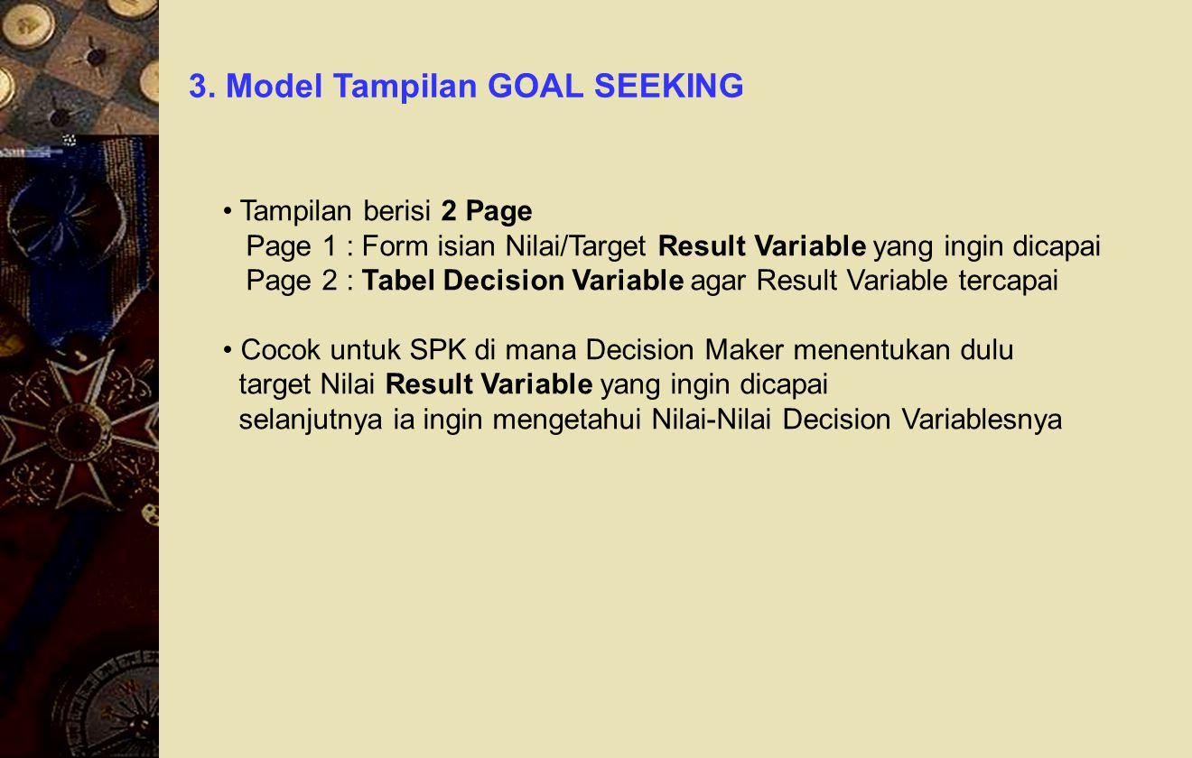 3. Model Tampilan GOAL SEEKING