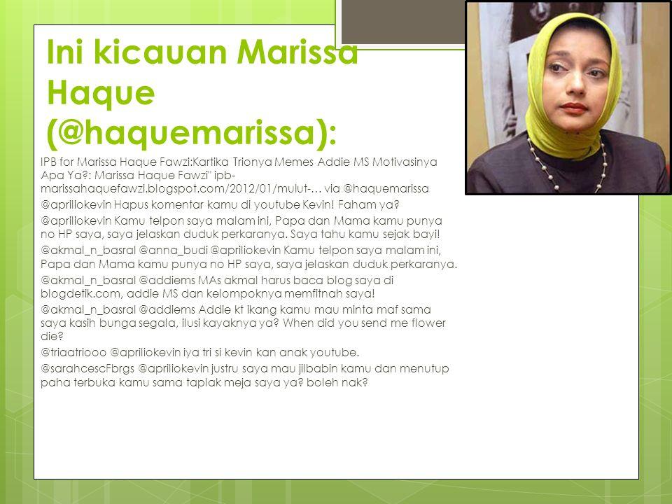 Ini kicauan Marissa Haque (@haquemarissa):