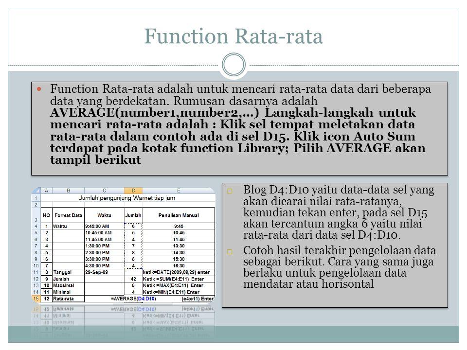 Function Rata-rata