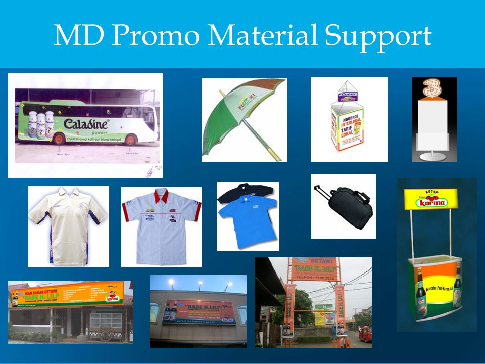 MD Promo Material Support