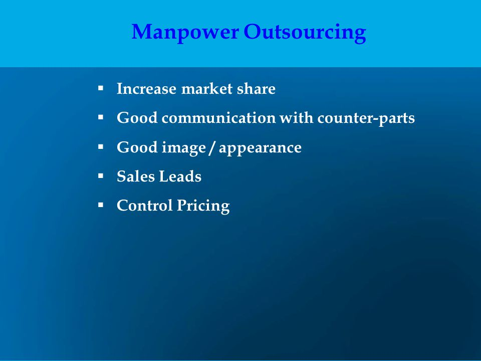 Manpower Outsourcing Increase market share