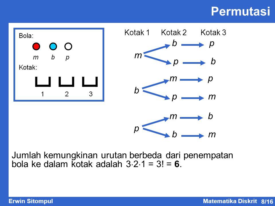 Permutasi b p m p b m p b p m m b p b m