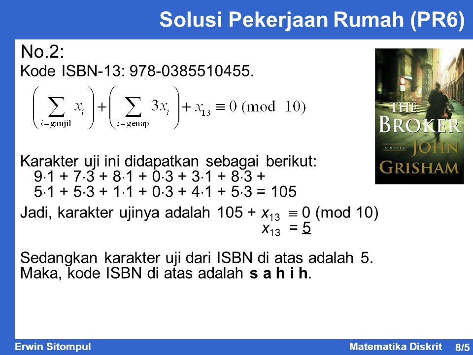 Solusi Pekerjaan Rumah (PR6)