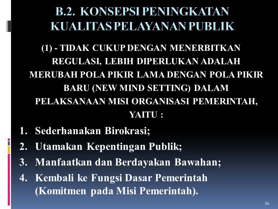 B.2. KONSEPSI PENINGKATAN KUALITAS PELAYANAN PUBLIK