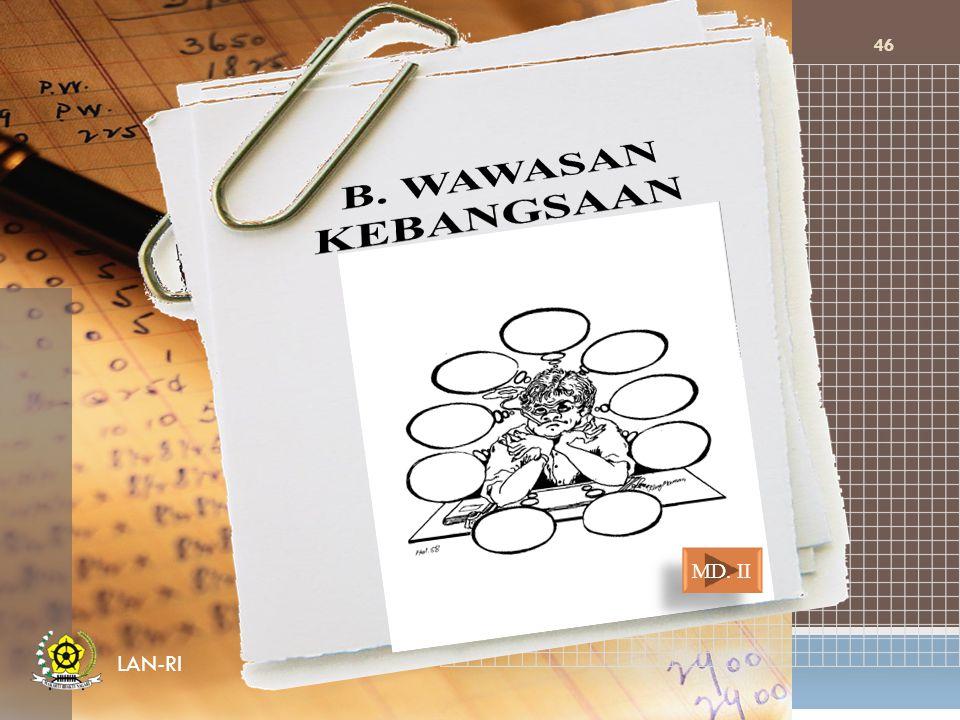 B. WAWASAN KEBANGSAAN MD. II LAN-RI