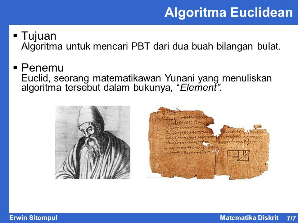 Algoritma Euclidean Tujuan Penemu