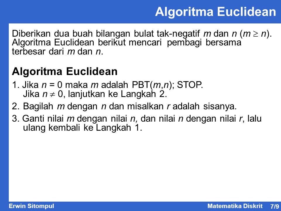 Algoritma Euclidean Algoritma Euclidean