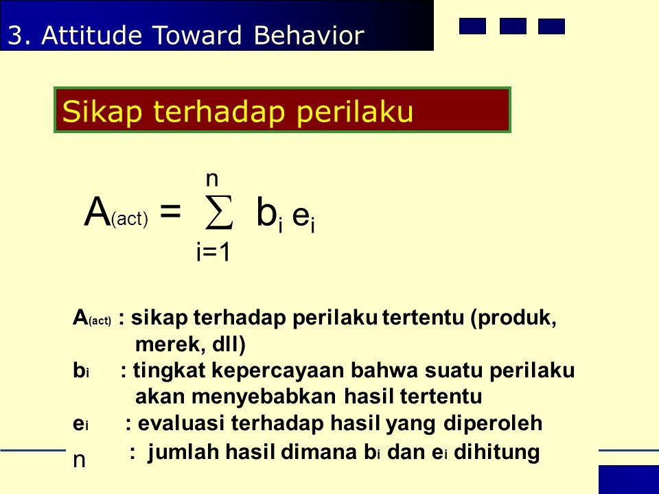 A(act) =  bi ei i=1 n n : jumlah hasil dimana bi dan ei dihitung