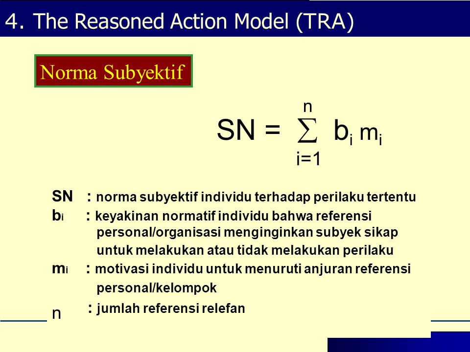 SN =  bi mi i=1 n n : jumlah referensi relefan