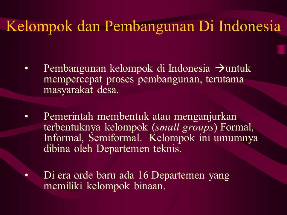 Kelompok dan Pembangunan Di Indonesia