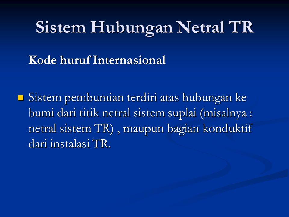 Sistem Hubungan Netral TR