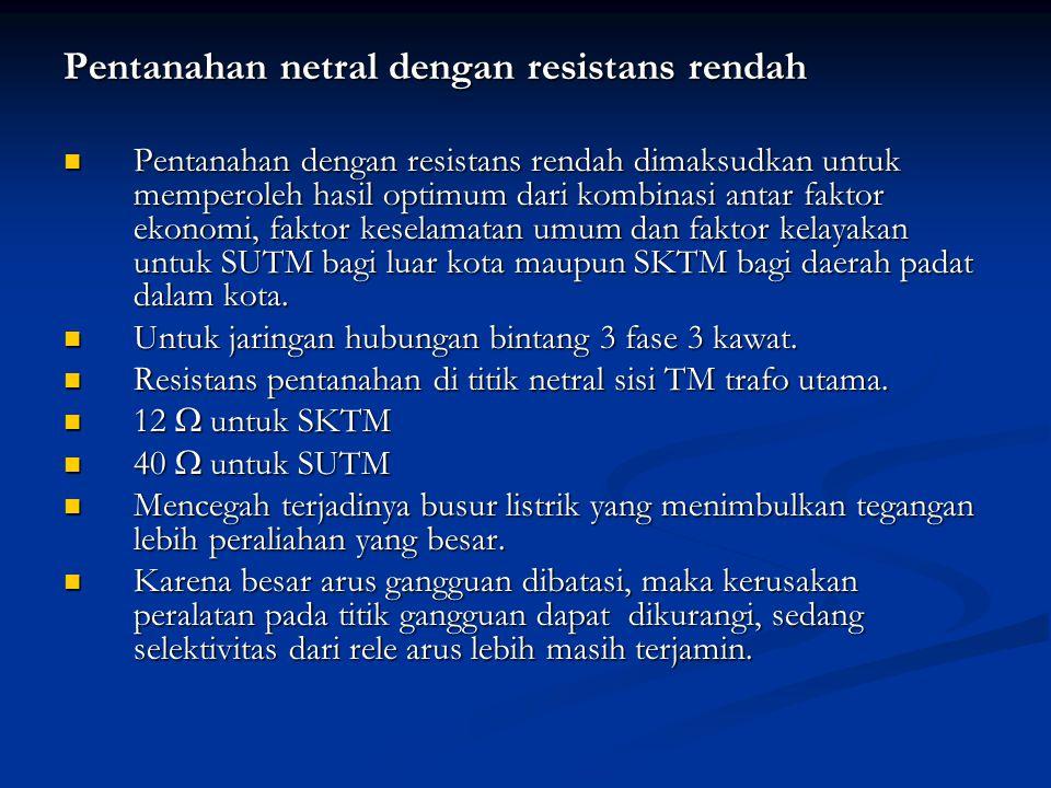 Pentanahan netral dengan resistans rendah