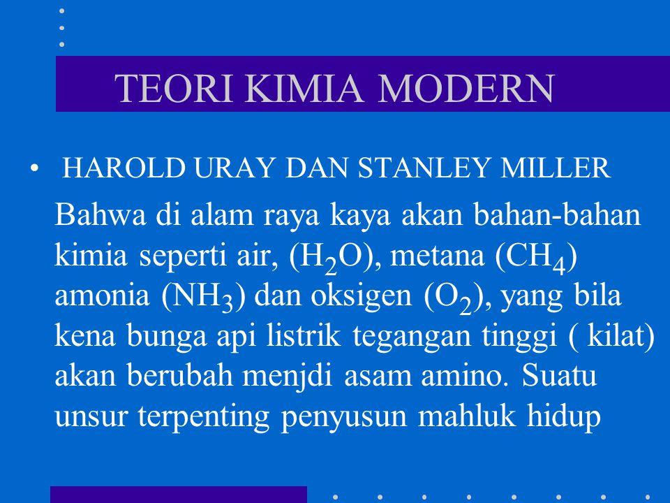 TEORI KIMIA MODERN HAROLD URAY DAN STANLEY MILLER