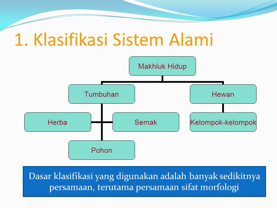 1. Klasifikasi Sistem Alami
