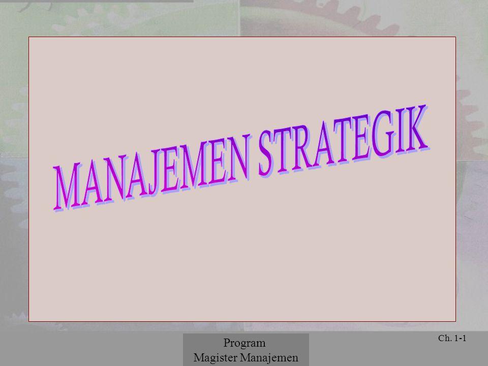 MANAJEMEN STRATEGIK Program Magister Manajemen © 2001 Prentice Hall