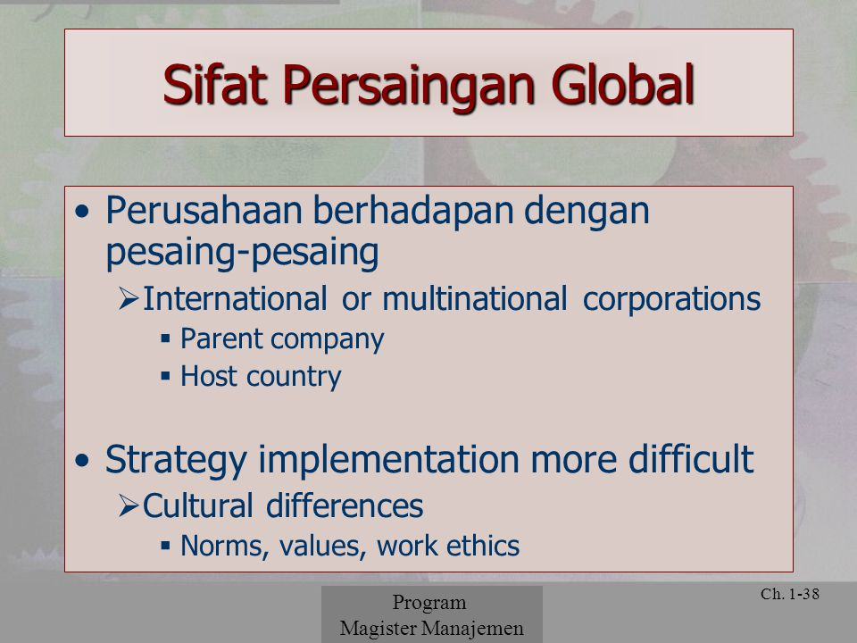 Sifat Persaingan Global
