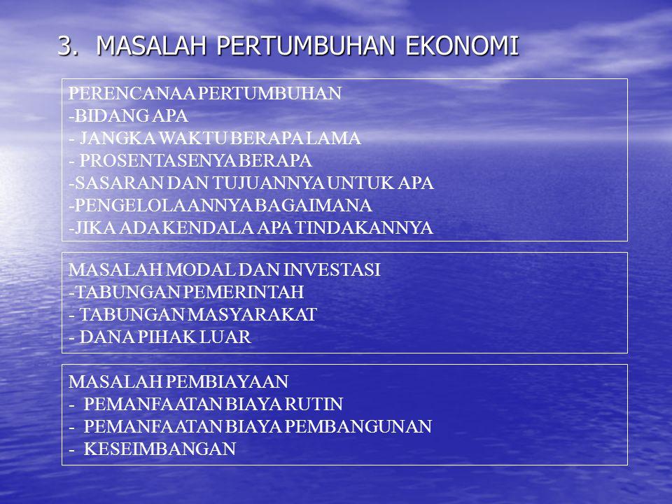 3. MASALAH PERTUMBUHAN EKONOMI
