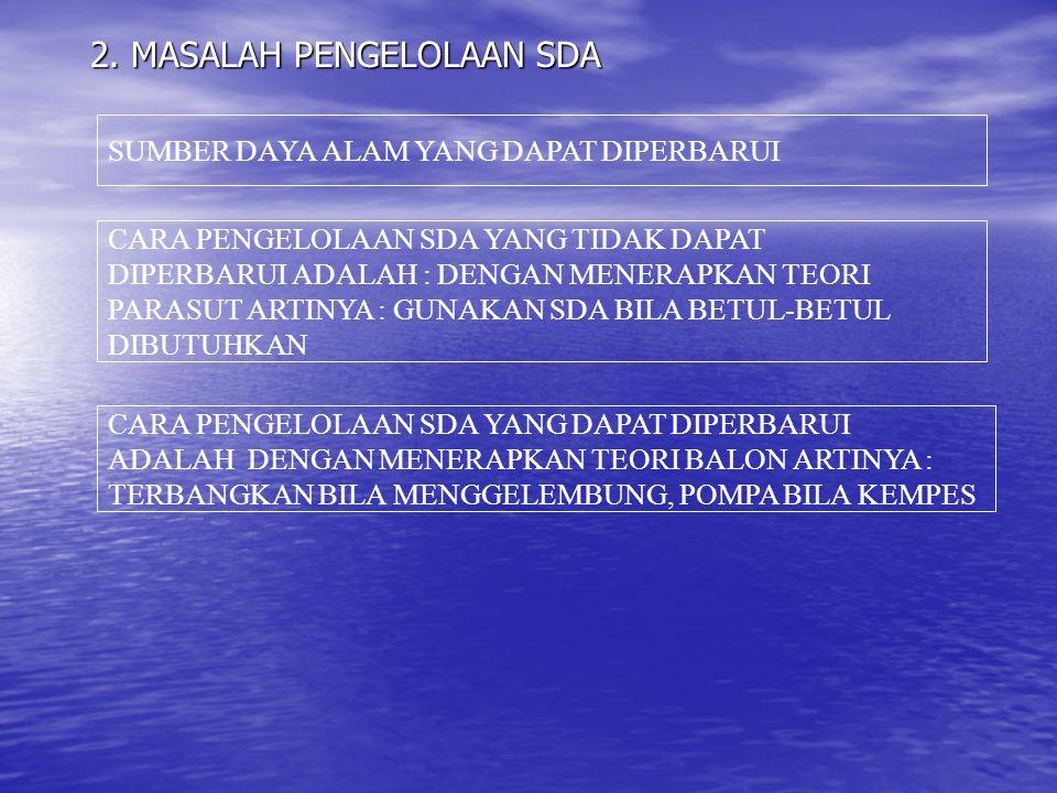2. MASALAH PENGELOLAAN SDA