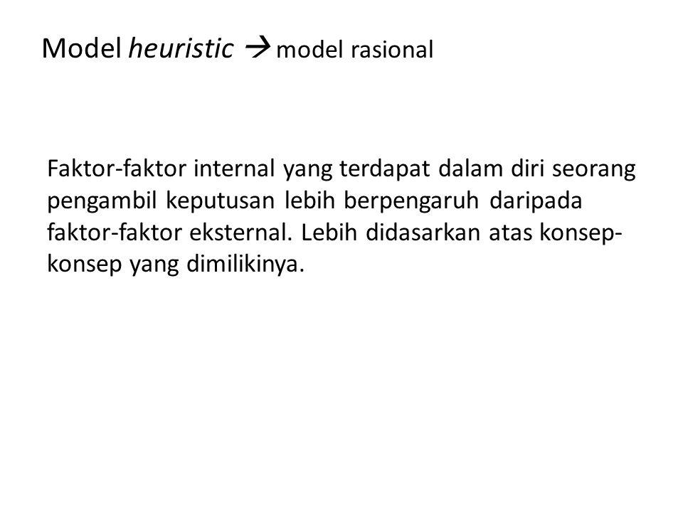 Model heuristic  model rasional