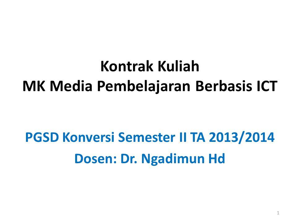 Kontrak Kuliah MK Media Pembelajaran Berbasis ICT