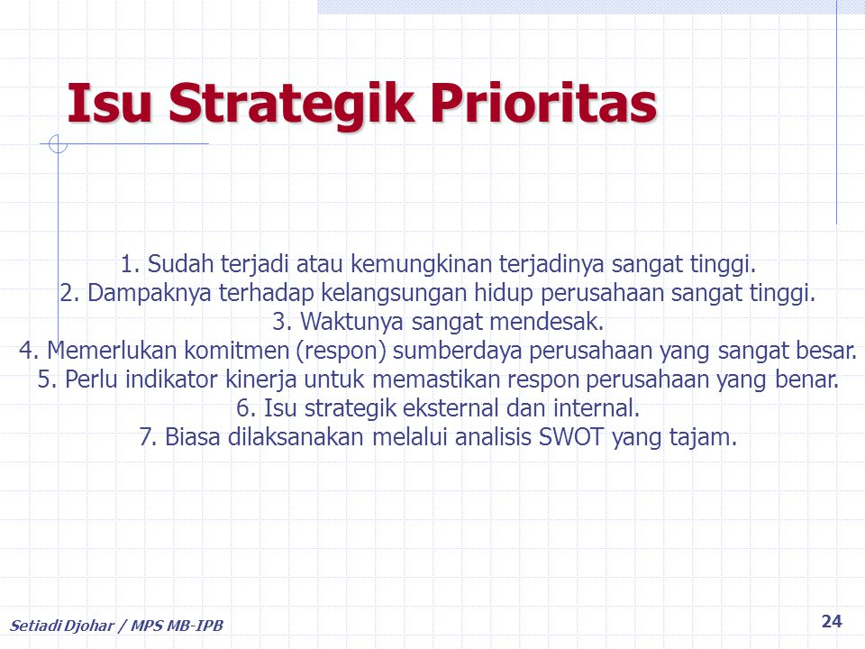 Isu Strategik Prioritas
