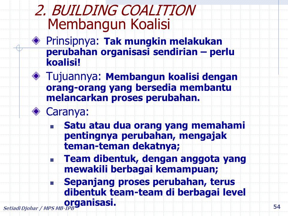 2. BUILDING COALITION Membangun Koalisi