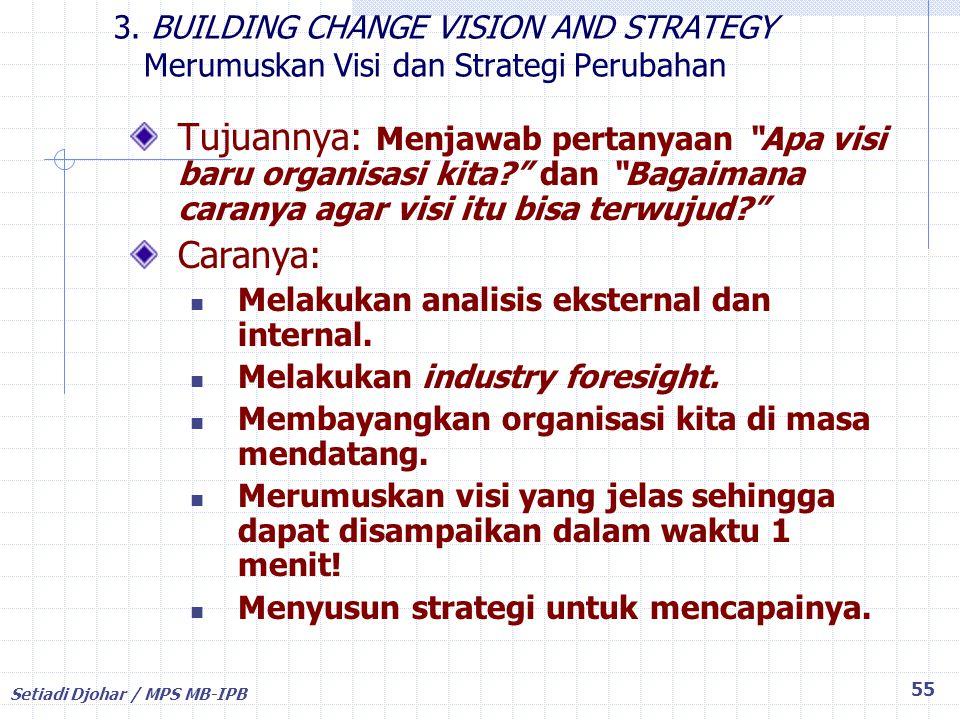 3. BUILDING CHANGE VISION AND STRATEGY Merumuskan Visi dan Strategi Perubahan