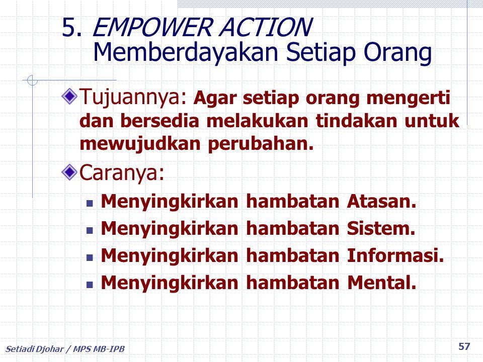 5. EMPOWER ACTION Memberdayakan Setiap Orang