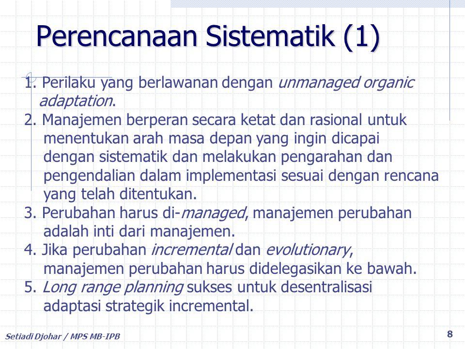 Perencanaan Sistematik (1)